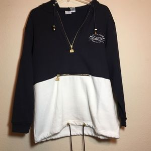 Vintage Nautical Kangaroo Pouch Sweatshirt